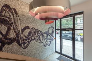 Künstlerische Gestaltung - Eingänge und Treppenhäuser der Premium Wohnanlage Carré Raimar der CG Gruppe Deutschland